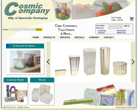 Specialty Packaging Website
