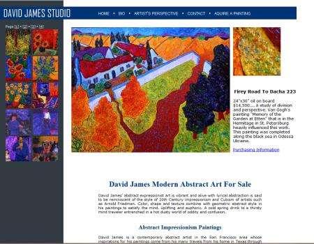 David James Abstract Art Website