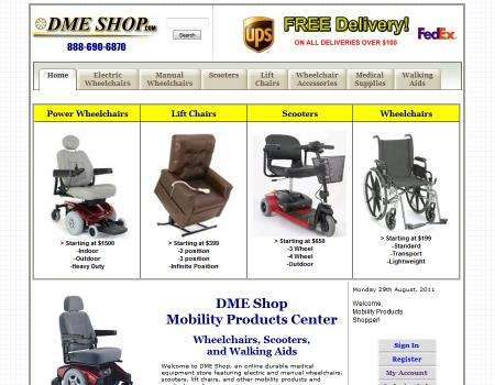 DME Shop Website