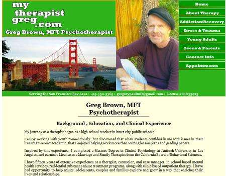 Greg Brown Psychotherapy Website