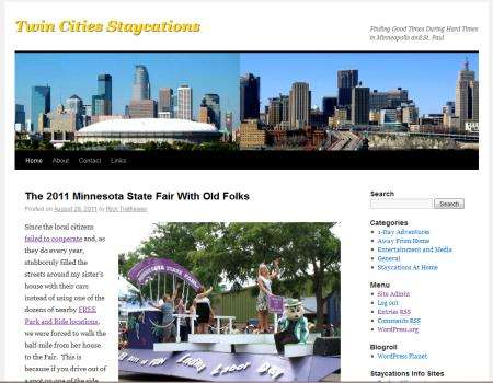 Minneapolis Staycations Website